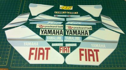 Picture of Yamaha YZF-R125 Fiat Rossi moto GP Decals / Sticker kit