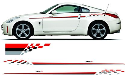 Picture of Nissan 300ZX / 350z / 370z /  Skyline /200SX  Nismo Side &  Bonnet Stripes /  Stickers
