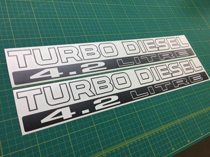 Picture of Nissan Patrol Safari Datsun ebro 4.2 Turbo Diesel replacement Decals / Stickers