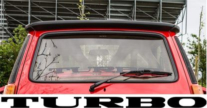 "Picture of Renault 5 Gordini Turbo 2 rear screen ""Turbo"" Decal / Sticker"