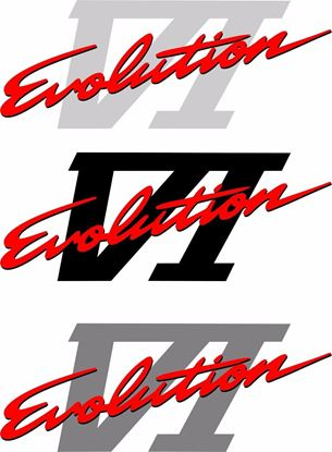 Picture of Mitsubishi Evolution 6 replacement Decal / Sticker COLOUR OPTIONS