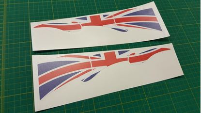 Picture of Truck Lorry Cab Union Jack flag Decals / Stickers