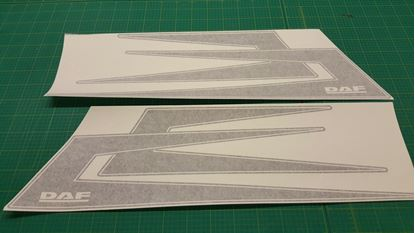 Picture of DAF XF / CF  top side roof boomerang Decals / Stickers
