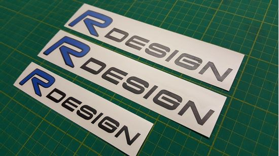 Picture of Volvo R Design Decals / Stickers