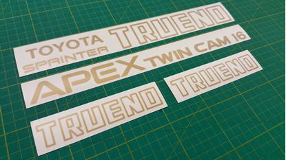 Picture of Toyota Sprinter Trueno Apex Twin Cam 16 AE86 Decals Stickers restoration