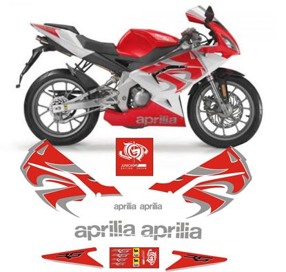 Picture of Aprilia RS 50 Rosso Fluo Bianco 2008 - 2009 Replacement Decals / Stickers