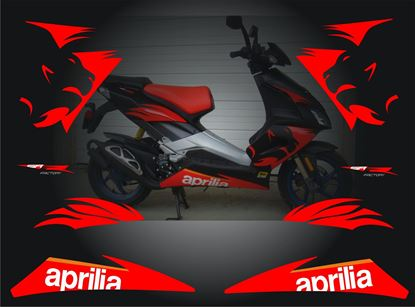 Picture of Aprilia SR 50R 2009 Factory Replacement Decals / Stickers