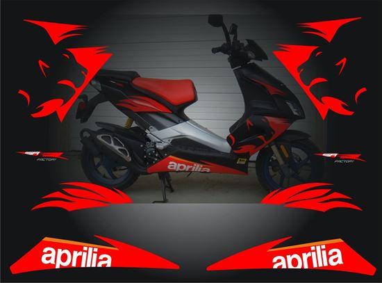 33bfe058a6a Zen Graphics - Aprilia SR 50R 2009 Factory Replacement Decals / Stickers