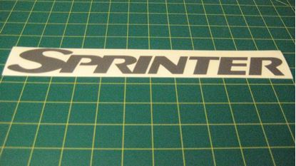 Picture of Mercedes Sprinter replacement rear door Decal / Sticker also fits Vaneo / Vito - copy