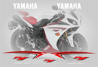 Picture of Yamaha YZF R1 2009 Replacement Decals / Stickers
