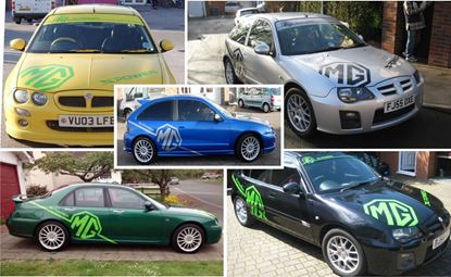 Picture of MG ZR ZT & ZS Full Graphics / Sticker kit