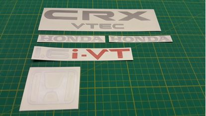 Picture of Honda CRX  1.6i-VT  EE8 1983 - 1991  Replacement rear hatch Decals / Stickers