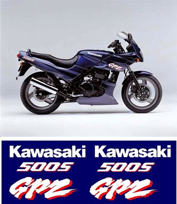 Picture of Kawasaki GPZ 500S 1996 on replacement Decals / Stickers