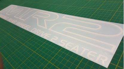 Picture of Toyota MR2 Mk1  rear screen / glass replacement Decal / Sticker