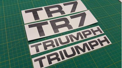 Picture of Triumph TR7 replacement rear Decals / Stickers