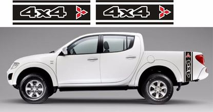 Picture of Mitsubishi L200 side bed 4x4 Stripes / Stickers