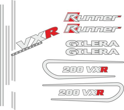 Picture of Gilera Scooter VXR  Runner 200 replacement Decals / Stickers