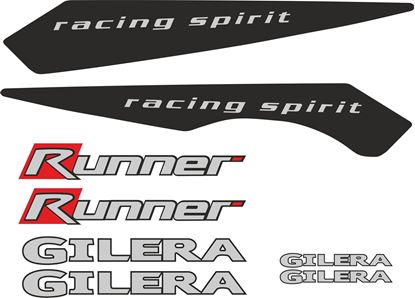 Picture of Gilera Runner  racing spirit replacement Decals / Stickers