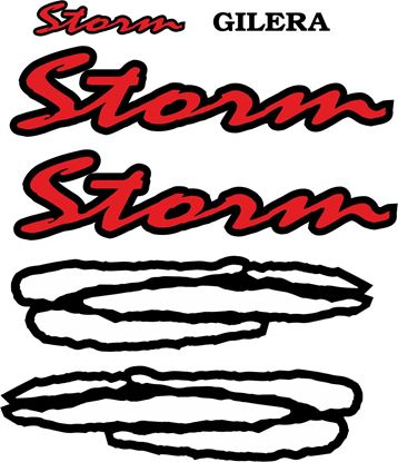 Picture of Gilera Scooter Storm  replacement Decals / Stickers