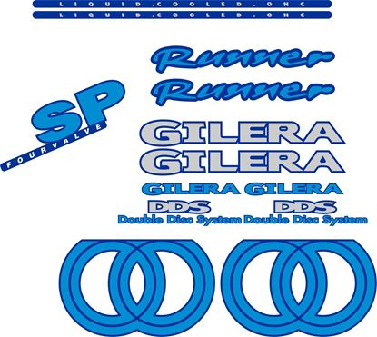 Picture of Gilera Scooter Runner DDS SP Four Valve  replacement Decals / Stickers