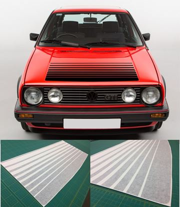 Picture of MK2 Golf  / Jetta Bonnet fade Stripes / Sticker