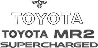 Picture of Toyota MR2 Mk1 Supercharged replacement Decal / Sticker  set