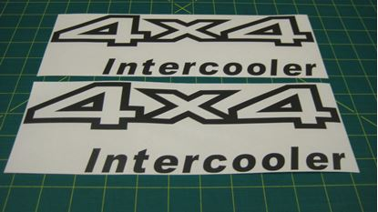 Picture of Nissan Navara / Terrano / Pathfinder / QX4 4x4 Intercooler Replacement Decals / Stickers