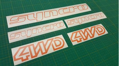 Picture of T3 / T25 Syncro 4WD restoration Decals / Stickers