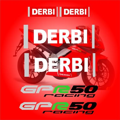 Picture of Derbi GPR 50 Racing replacement Decals / Stickers 2004 - 2009