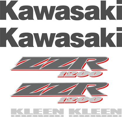 Picture of Kawasaki ZZR 1200 2002 - 2005  Replacement Decals Stickers Graphics