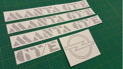 Picture of Opel Manta  GT/E B2 1982 - 1988  restoration Decals Stickers