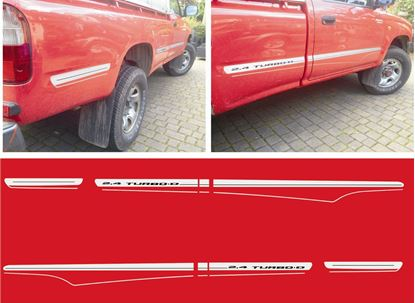 Picture of Toyota Hilux 2.4 Turbo 1994 - 05 replacement side Stripes / Decals /  Stickers