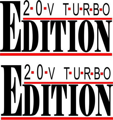 Picture of 20V Turbo Edition Decals / Stickers