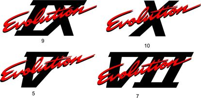 Picture of Mitsubishi Evo 5 / 7/ 9 / 10 Evolution Tailgate / hatch replacement Decal / Sticker