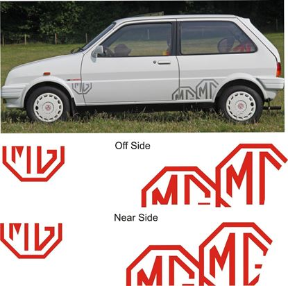 Picture of MG Metro replacement  floating Octagon Decals / Sticker