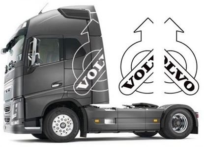 Picture of Volvo Globetrotter Extra large sides Decals / Stickers