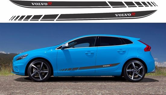 Zen Graphics Volvo V40 R Design Side Stripes Graphics