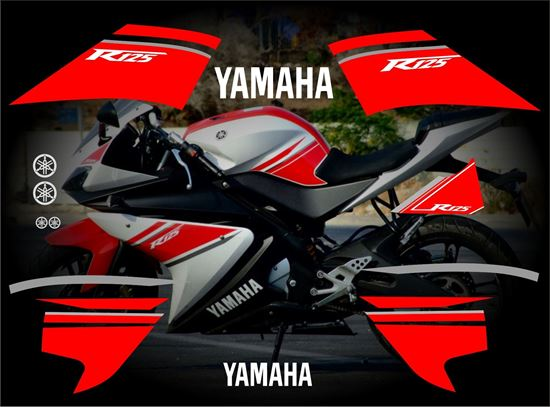 Zen Graphics Yamaha Yzf R125 Replacement Decals Stickers