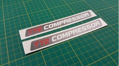 Picture of Toyota Yaris / Corolla TTE Compressor Decals / Stickers