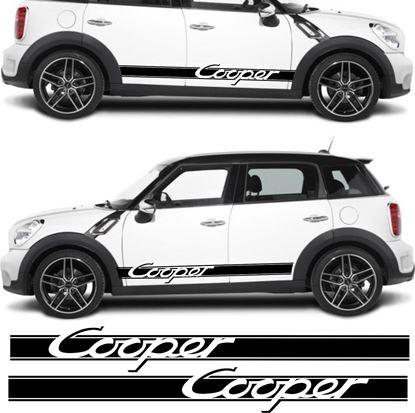 Picture of Mini R60 Countryman Cooper side stripes / Stickers