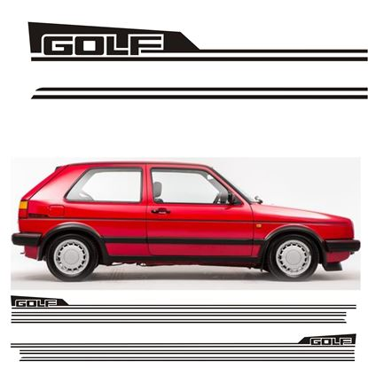 Picture of Golf MK2  side Stripes and rear quarter Stickers / Stripes