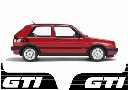 "Picture of VW Volkswagen Golf MK2 Side rear quarter ""GTI""  / Decals / Stickers"