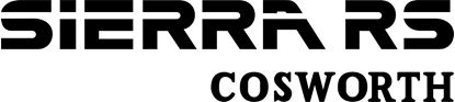 Picture of Ford Sierra RS Cosworth replacement rear Decal / Sticker
