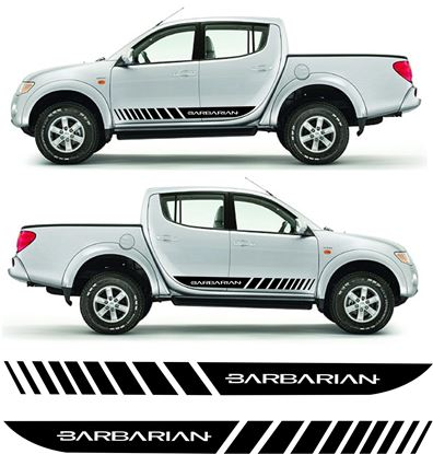 Picture of Mitsubishi L200 Barbarian sides  graphics / Stripes