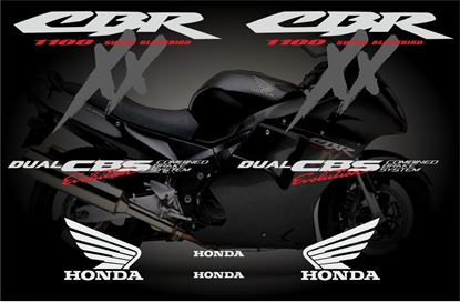 Picture of Honda CBR Super Blackbird 1997 - 1999 full replacement  Decals / Stickers