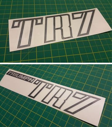 Picture of Triumph TR7 rear boot lid and bonnet restoration Decals / Stickers