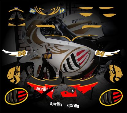 Picture of Aprilia RS 50 / 125  1999 - 2005 Replacement Decals / Stickers