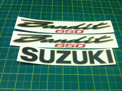 Picture of Suzuki Bandit GSF650 replacement Decals / Stickers