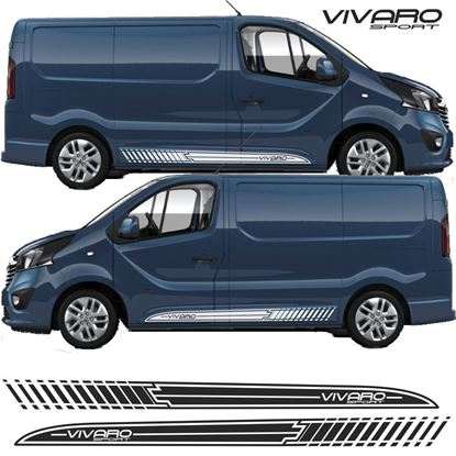 Picture of Vauxhall Vivaro side trim stripes / Stickers