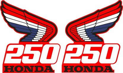 Picture of Honda CR250 1987 replacement tank Decals  / Stickers